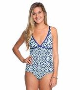 Tommy Bahama Malibu Medallion VNeck One Piece Swimsuit - 8117686