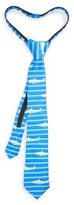 Nordstrom Boy's Ship Print Silk Zipper Tie