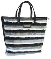 Adrienne Landau Women's Faux Fur Shopping Tote.