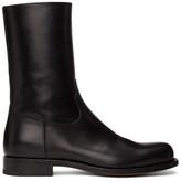 Dries Van Noten Black Half Boots