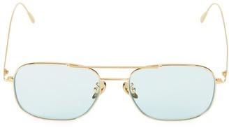 Cutler & Gross 54MM Tinted Aviator Sunglasses
