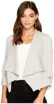 BB Dakota Gayne Rayon Twill Jacket with French Terry Collar Women's Coat