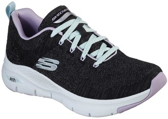 Skechers Arch Fit Comfy Wave Trainer - Black Multi