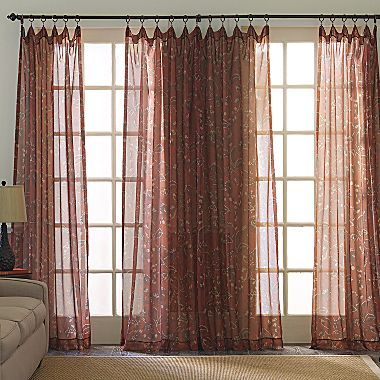 JCPenney Kismet Rod-Pocket Sheer Panel
