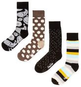 Happy Socks Intarsia Socks Gift Box Set (4 PK)