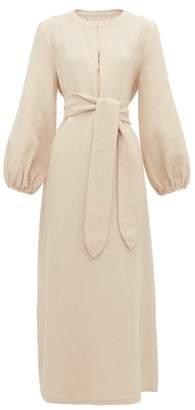 Mara Hoffman June Belted Waist Cotton Blend Dress - Womens - Light Pink