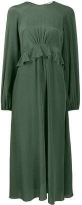 Zimmermann Silk Flounce Midi Dress