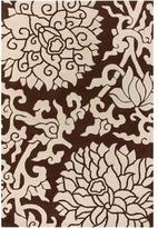 Rugs Blossom In Chocolate And Cream