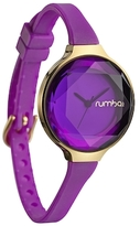 RumbaTime Orchard Gem Silicone Amethyst 30mm Watch