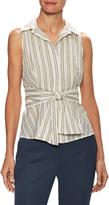 Max Mara Women's Amadeus Cotton Striped Sleeveless Top