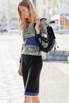 Next Womens Black/Grey Colourblock Rib Dress - Grey