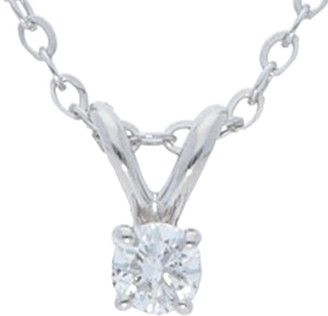 Nephora 14K 0.10 Ct. Tw. Diamond 4 Prong Solitaire Necklace