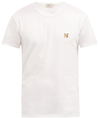 MAISON KITSUNÉ Fox Head-patch Cotton-jersey T-shirt - White