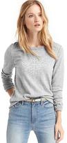 Gap Snowflake intarsia crewneck sweater