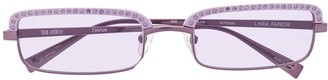 Linda Farrow x The Attico square frame sunglasses