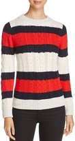 Vero Moda Menifee Stripe Cable-Knit Sweater