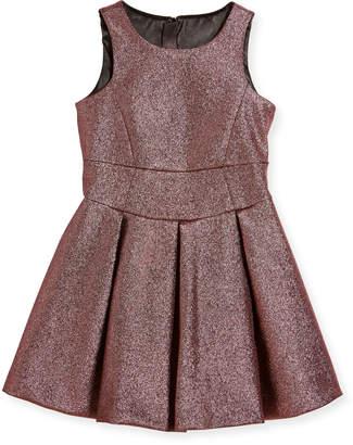 Milly Scoop-Neck Metallic Dress, Size 4-7
