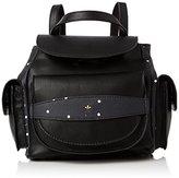 Nica Womens Romalie Mini Backpack Handbag Black Dotty Mix