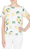 Catherine Malandrino Women's Charm Print Lace Top