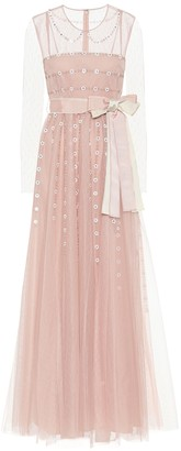 RED Valentino Embellished tulle gown