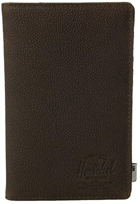 Herschel Search + Tile (Black Pebbled Leather) Wallet Handbags