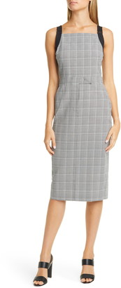 Max Mara Fucino Glen Plaid Sheath Dress