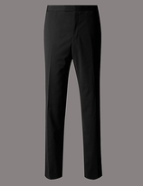 Autograph Black Tailored Fit Wool Rich Trousers