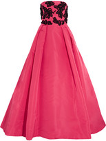 Oscar de la Renta Embellished Silk-taffeta Gown - Pink
