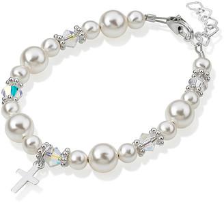 Swarovski Crystal Dream Girls' Bracelets white,silver - Silver Bracelet With Crystals & Crystal Pearls