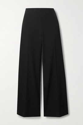 The Row Ander Cropped Wool Wide-leg Pants - Black