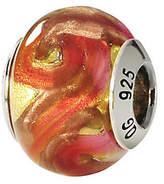 Murano Prerogatives Sterling Yellow/Orange Italian Glass Bead