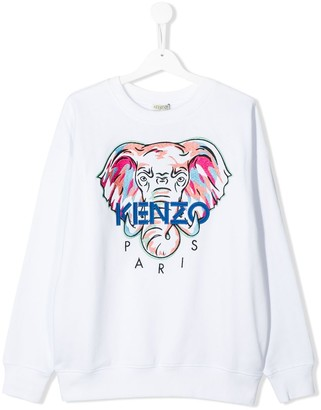 Kenzo TEEN elephant print sweatshirt
