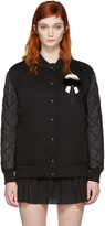 Fendi Black Down Karlito Bomber Jacket