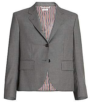 Thom Browne Women's Classic Cropped Wool Jacket