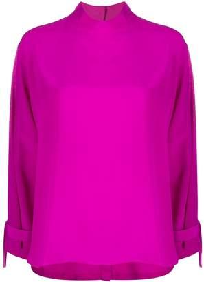 Jejia back buttoned silk blouse