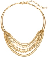 White House Black Market Layered Chain Collar Necklace