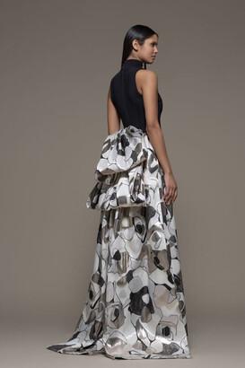 Isabel Sanchis Borrello Sleeveless High Neck Gown
