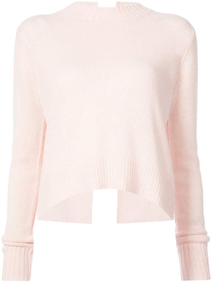 Derek Lam 10 Crosby Long Sleeve Sweater With Back Ring Detail