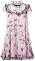 Giamba ruffle detail babydoll dress - women - Silk/Polyamide/Polyester - 40