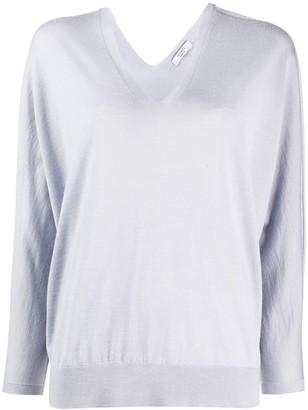 Peserico boxy V-neck jumper