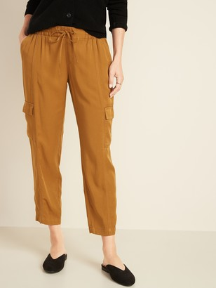 Old Navy Mid-Rise Soft Twill Pull-On Cargos for Women