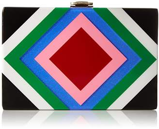 Milly Diamond Square Box Clutch