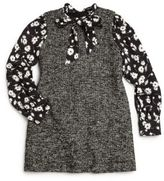 Dolce & Gabbana Girl's Floral & Tweed Layered Dress
