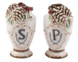 Fitz & Floyd Closeout! Forest Frost Salt and Pepper Set