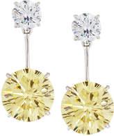 FANTASIA Canary Yellow CZ Double Drop Earrings