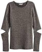 H&M Glittery Top - Dark gray/silver-colored - Ladies