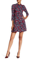 Rebecca Taylor Printed Mock Neck Dress