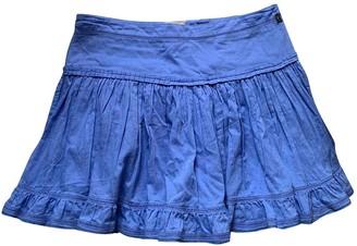 Galliano Turquoise Cotton Skirt for Women