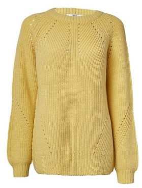 Dorothy Perkins Womens **Tall Yellow Lead In Stitch Jumper