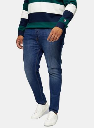 Topman BIG & TALL Mid Wash Stretch Skinny Jeans*